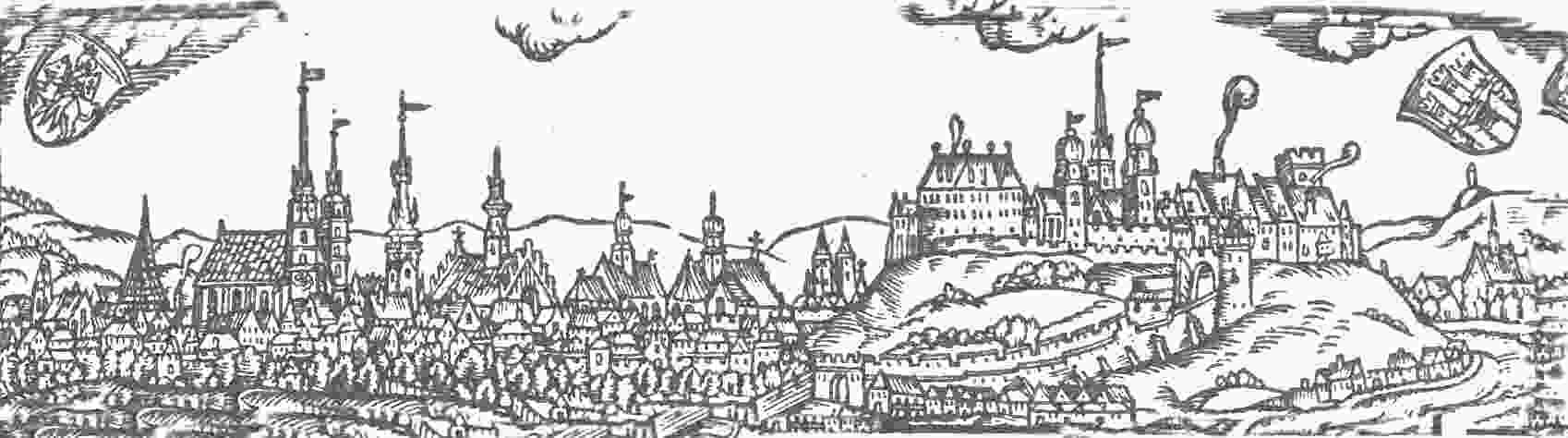 Panorama Krakowa z 1575 roku