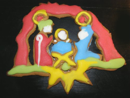 Szopka z piernika na motywie Groty Narodzenia Pańskiego w Betlejem